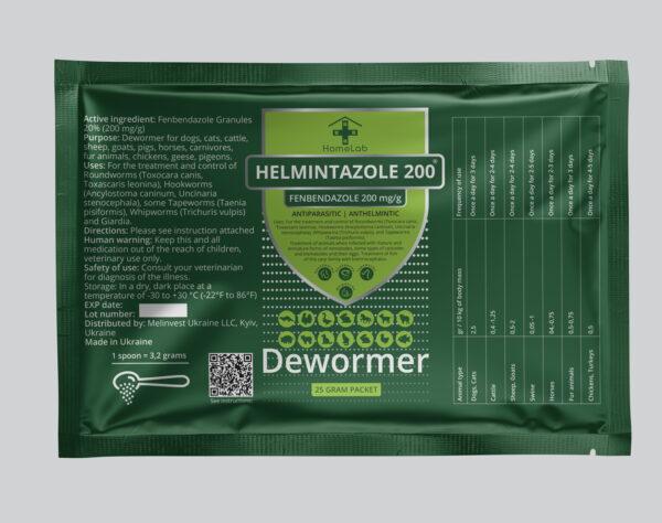 HELMINTAZOLE 200 mg Fenbendazole mini